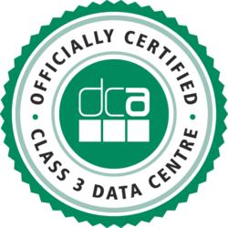 DCA Officially Certified Class 3 Data Centre Accreditation Logo