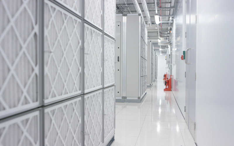 The energy efficient air conditioning system inside Datum data centres