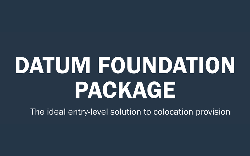 Text lockup which reads: 'Datum Foundation Package'