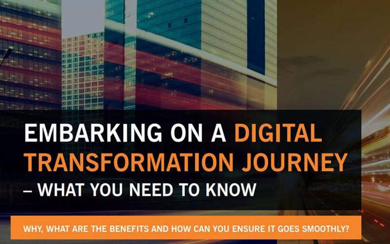 Front cover of 'embarking on a digital transformation journey
