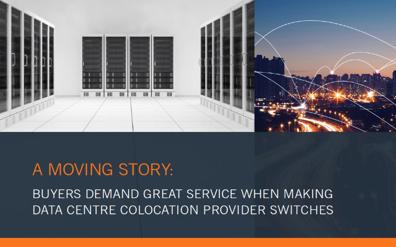 A moving story preview which reads: buyers demand great service when making data centre colocation provider switches