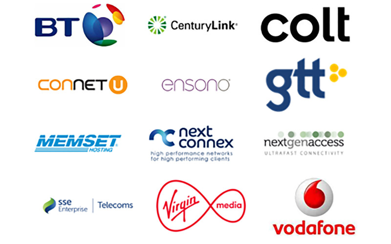 Logos of connected carriers