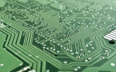 An electronic computer circuit board
