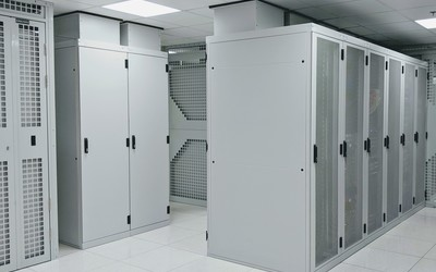 Chimney racks inside Datum data centres