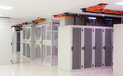 Racks and security cages inside Datum data centres