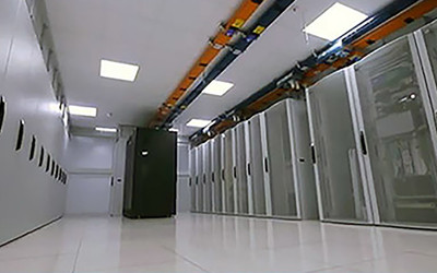 A view inside Datum data centres showing some racks