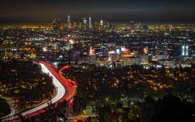 Photo of LA lights taken by https://chrisgower.com