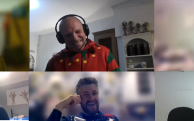 Members of Datum team on Zoom Christmas quiz call